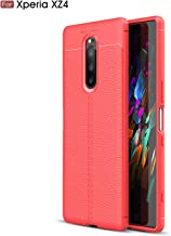 Sony Xperia XZ4 Case, Silicone Leather[Slim Thin] Flexible TPU Protective Case Shock Absorption Carbon Fiber Cover for Son...