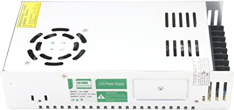 LEDMY DC 12V Non Waterproof Constant Voltage Power Supply, Non Dimmable for LED Strip Light,Panel Light (350W)