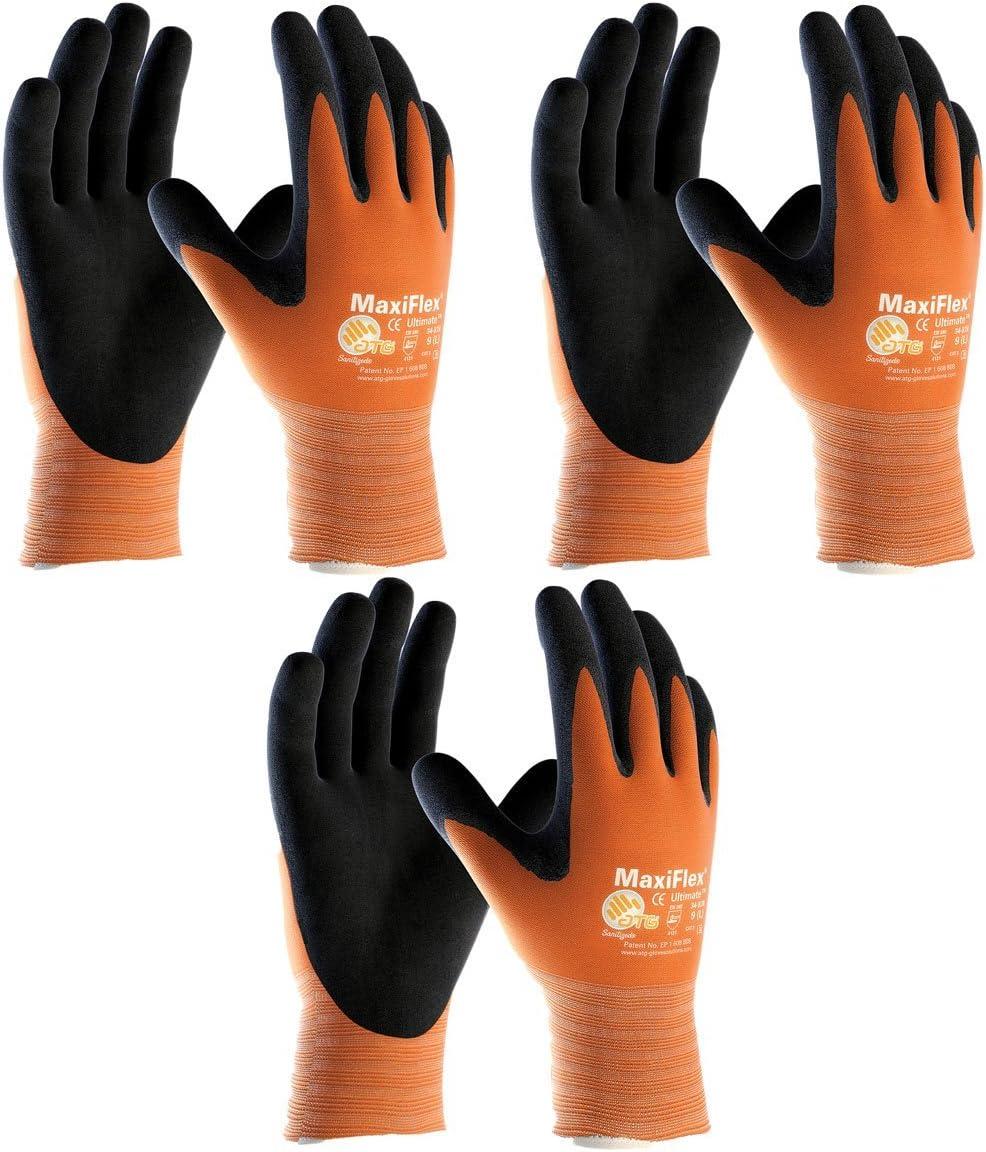 NEW before selling ☆ PIP 3 Pack MaxiFlex Regular store Ultimate Hi-Vis Orange S Work 34-8014 Gloves