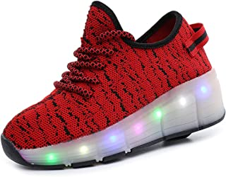 EVLYN Kids LED Roller Shoes Wheel Shoes Luminous Skates Sneakers Fashion for Christmas Gift