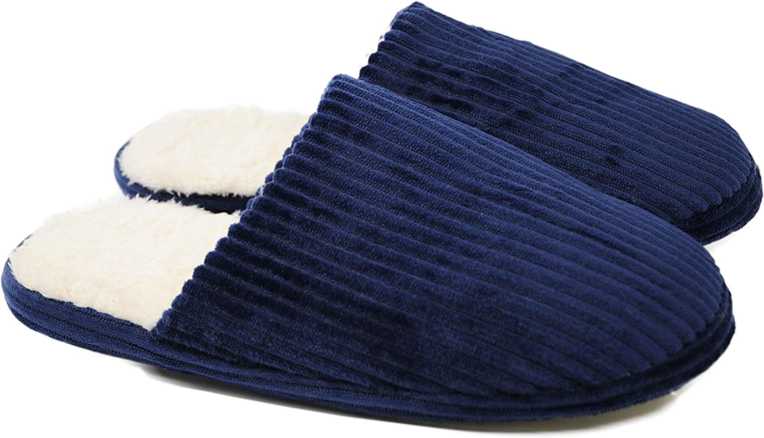 Crazy Lady Unisex Comfort Slip On Memory Foam Slippers French Terry Lining House Slippers w Anti Slip Sole