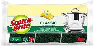 Scotch-Brite Eponge Grattante Verte Classic x 3