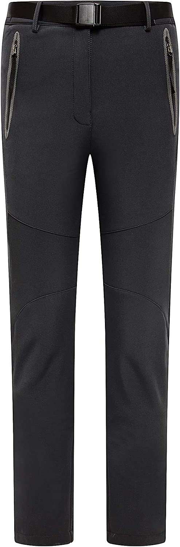 LancerPac Softshell Wasserdichte Damen Wanderhose Outdoor Skifahren Sportwear Schnee Fleece Hose