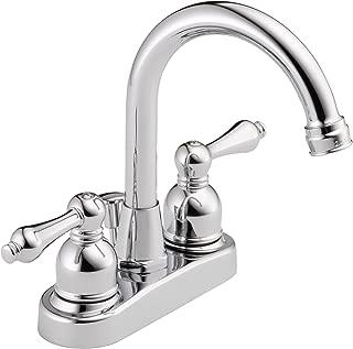 Westbrass 2-Handle Hi-Arc Spout Centerset Bathroom Faucet, Polished Chrome, WAS00X-26