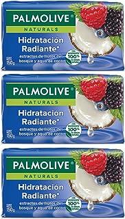 Palmolive Naturals Jabón de Tocador Frutos del Bosque y Agua de Coco Fabricado responsablemente con humectante natural, fr...