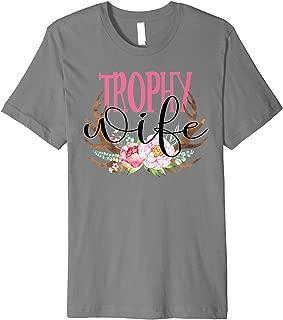 Trophy Wife Deer Antlers Floral Tshirt