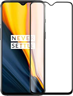 Case U Full Glue Tempered Glass for OnePlus 7 (Black) Edge to Edge Full Screen Coverage with Easy Installation kit (Pack of 1, Black)