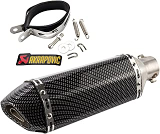 bluecookie_jp スリップオンマフラー バイクサイレンサー 炭素繊維GP 38mm 50.8mm汎用 ステンレス バイク マフラー 可取り外し サイレンサー オートバイ バッフルは2段階に調整でき ブラック