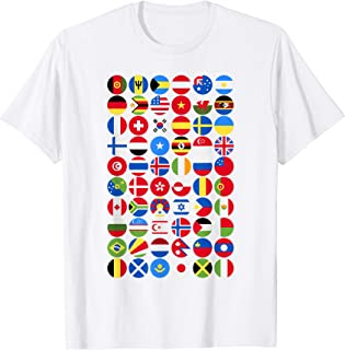 International World Flags T-shirt, perfect for travelling