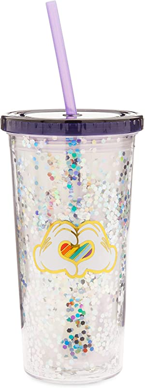 Disney Mickey Mouse Rainbow Travel Tumbler With Straw