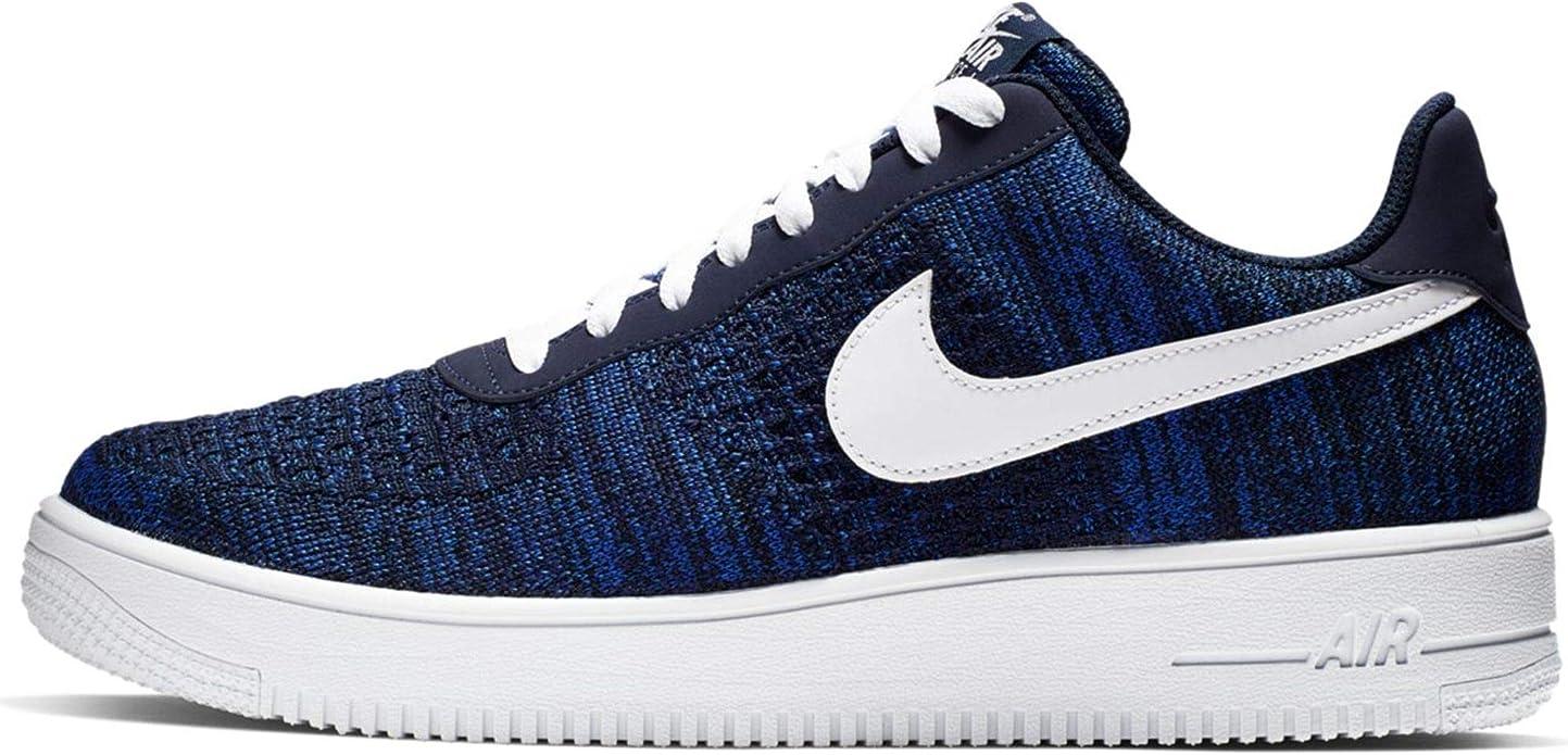 Nike Air Force 1 Flyknit 2.0 AV3042-400 Baskets - Bleu - bleu, 43 ...
