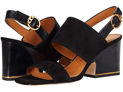 Tory Burch Selby 75 mm Block Heel Sandal (Perfect Black/Perfect Black) Women
