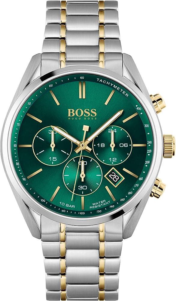 Hugo boss orologio per uomo in acciaio inossidabile 1513878