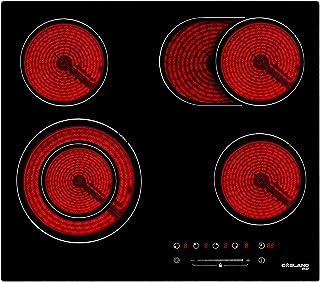 Gasland Chef CH604BF Encastrable Table de Cuisson Vitrocéramique, Électrique Plaque de Cuisson 60cm, 6600W, 4 Foyers, Zone...