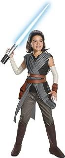 Rubie's Star Wars Episode VIII: The Last Jedi, Child's Super Deluxe Rey Costume, Large