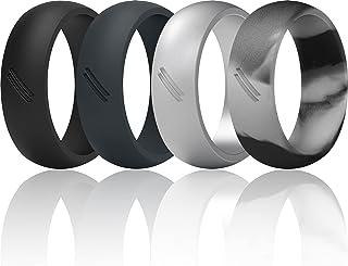 خاتم زفاف من السيليكون ثاندر فيت للرجال، خاتم زفاف مطاطي - العرض 8.7 مم - سمك 2.5 مم