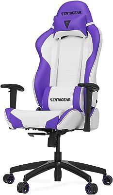 Vertagear S-Line 2000 Racing Series Gaming Chair, Large, White/Purple