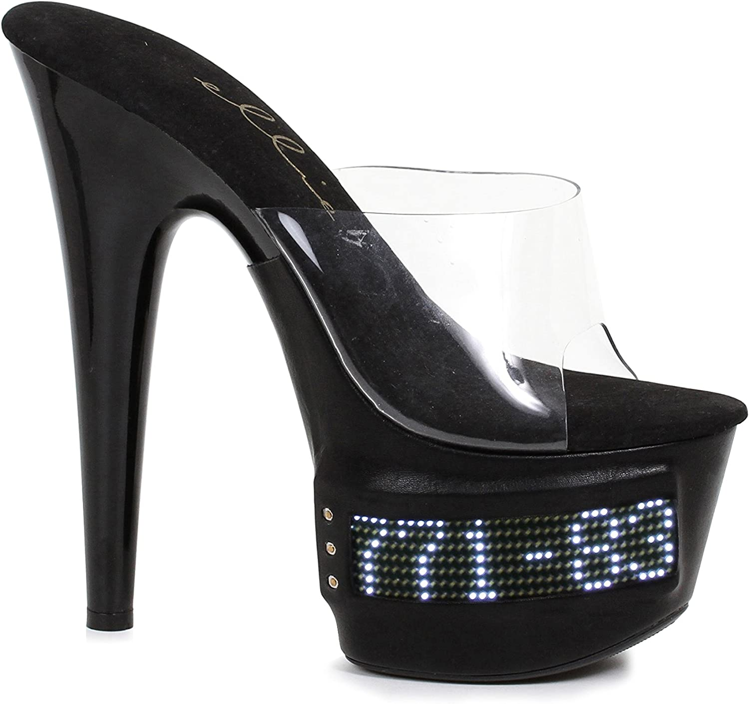 Ellie shoes 7 Inch Pointed Stiletto Mule LED