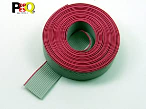 POPESQ/® 1 m x Tube thermor/étractable 6.4mm 2:1 Rouge #A2759