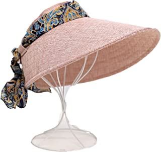 13e0525445478 Sllxgli Summer visor bike bicycling windbreaker ribbon bow hat sun  protection