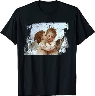 Angel Kissing Aesthetic Vintage Distressed Look T-Shirt