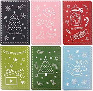 36-Pack Christmas Greeting Cards Bulk Box Set - Assorted Winter Holiday Xmas Greeting Cards in 6 Doodle Designs, Envelopes Included, 4 x 6 Inches