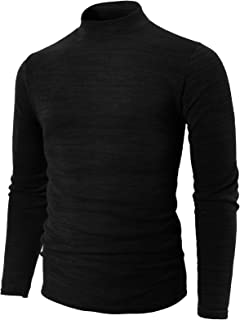 H2H Mens Casual Slim Fit Knitted Thermal Turtleneck Pullover Sweaters Basic Designed