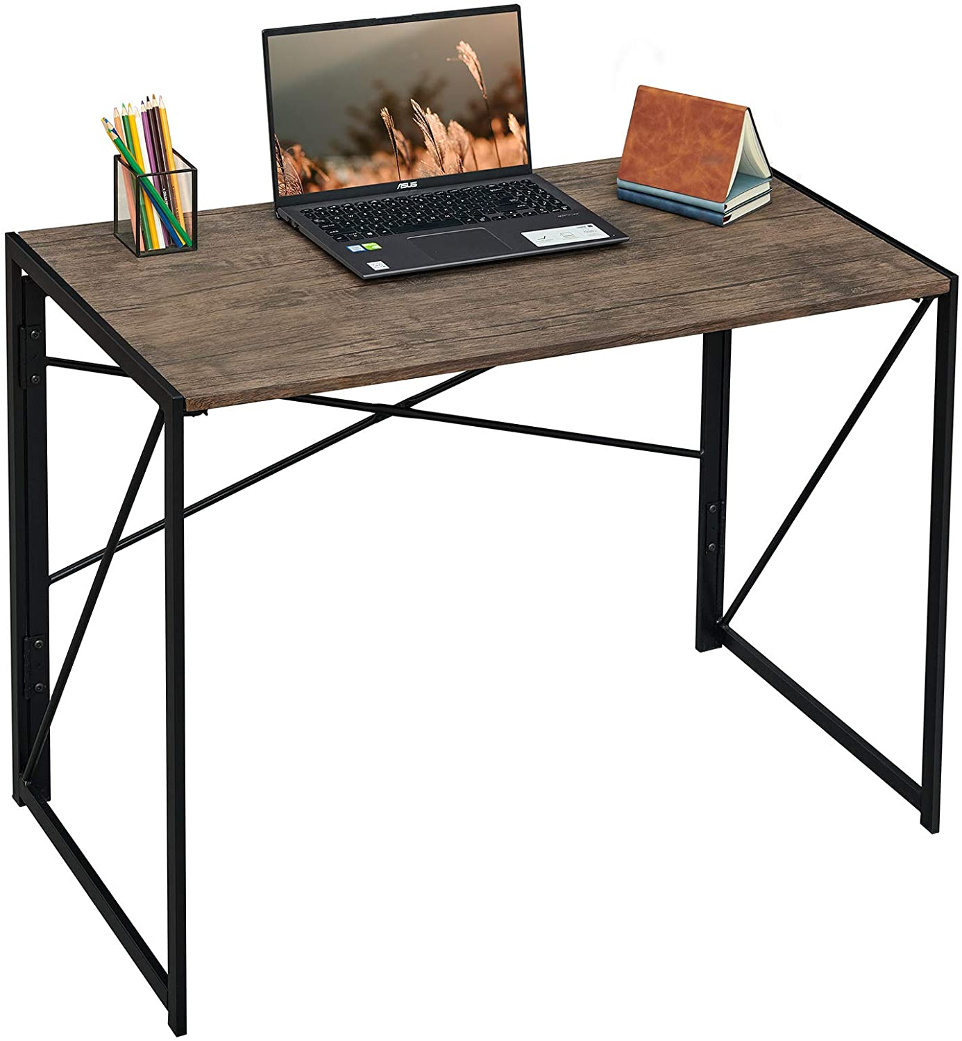 Coavas Folding Desk No Oakland Mall Assembly Required Writing Computer New Orleans Mall 40