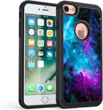iPhone 7 Case, iPhone 8 Case,Rossy Galaxy Nebula Space Design Shock-Absorption Hard PC and Soft Silicone Dual Layer Hybrid Armor Defender Protective Case Cover for Apple iPhone 7/ iPhone 8 4.7 Inch