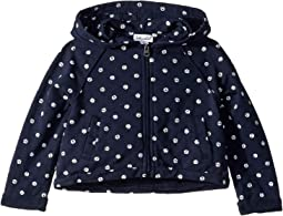Dot Print Hoodie Jacket (Toddler/Little Kids)