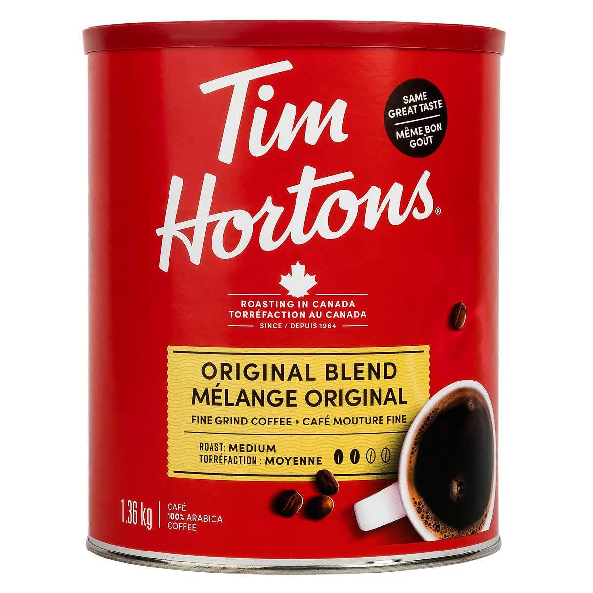قهوة تيم هورتنز أوريجينال بليند المطحونة جيد ا عبوة 1 36 كجم Amazon Ae