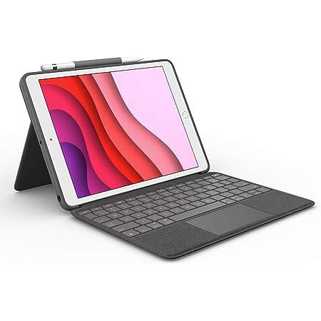 Logitech Combo Touch Custodia con Tastiera per iPad 7a Gen A2197/A2200/A2198/A2270/A2428/A2429/A2430 con Trackpad, Tastiera Wireless e Smart Connector, Layout Italiano Qwerty, Nero (Grafite)