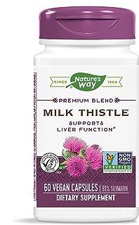 Nature's Way Premium Extract Standardized Milk Thistle 80% Silymarin, 60 Capsules