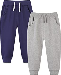 Baby and Toddler Boys' 2-Pack Pull on French Terry Pants...