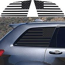 JeCar American Flag Window Decals Vinyl Rear Window Stickers Exterior Accessories for Jeep Grand Cherokee WK2 2011+, 1 Pair