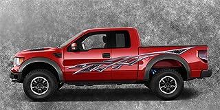 2 Car Truck Trailer Side Decals Graphics Stripes Vinyl #B1288Metal (6ft Long 76