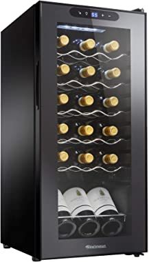 Wine Enthusiast 18-Bottle Single Zone Compressor Wine Cooler