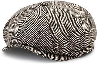 eb382b2d0a78c IBLUELOVER Casquette Plate Hommes Femmes Béret Loisirs Vintage Réglable  Chapeau en Laine Printemps Automne Casquettes Souples