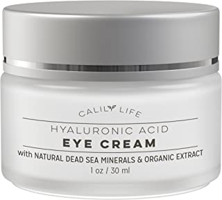 Calily Life Hyaluronic Acid Eye Cream with Dead Sea Minerals, 1 Oz. – Naturally Minimizes Fine Lines, Reduces Puffiness and Dark Circles - Deeply Hydrates, Nourishes Skin & Fights Wrinkles [ENHANCED]