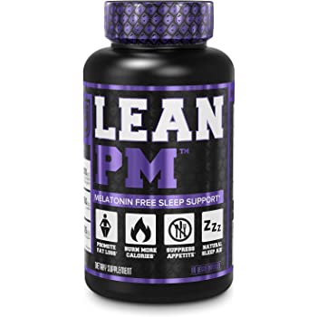 Lean PM Melatonin Free Fat Burner & Sleep Aid - Night Time Sleep Support, Weight Loss Supplement & Appetite Suppressant for Men and Women - 60 Caffeine Free Veggie Weight Loss Diet Pills