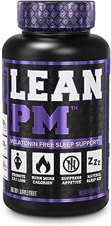 Lean PM Melatonin Free Fat Burner & Sleep Aid - Night Time Sleep Support, Weight Loss Supplement & Appetite Suppressant for Men and Women - 60 Caffeine Free, Keto Friendly Diet Pills