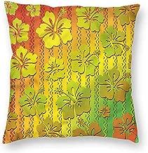 Mannwarehouse Rasta Simple Pillowcase Jamaican Island Flower CushionW20 x L20