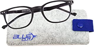 Blue Light Blocking Round Glasses– Anti-Fatigue Computer Eye Glasses to Prevent Headaches and Eye Strains Gamer Glasses