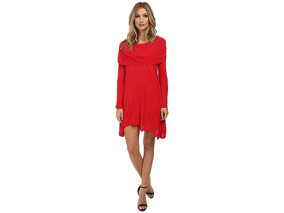 kensie Sheer Viscose Tees Dress KS1K7392 (Poppy) Women