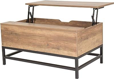 mymai Table Basse avec Fonction de Levage, Bois d'ingénierie, 80 x 48 x 43 cm