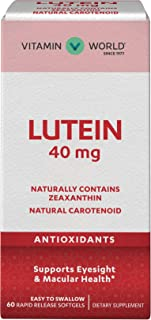 Vitamin World Lutein 40mg 60 Rapid Release Softgels, Eye Health, Vision, Antioxidant