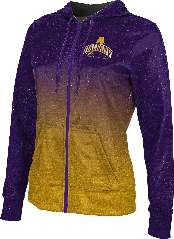ProSphere University at Albany Girls' Zipper Hoodie, School Spirit Sweatshirt (Ombre)