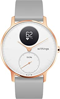 Withings / Nokia | Steel HR Hybrid Smartwatch - Activity Tracker with Connected GPS, Heart Rate Monitor, Sleep Monitor, Water Resistant Smart Watch with 25-day battery life (Renewed)