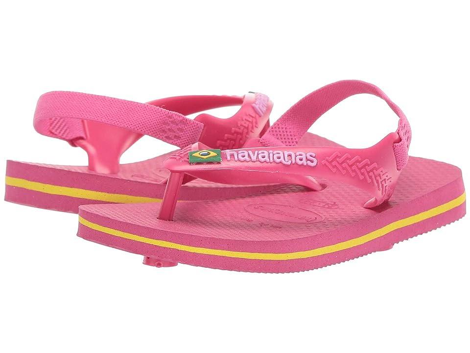 Havaianas Kids Baby Brazil Logo Flip-Flop (Toddler) (Tulip) Girls Shoes