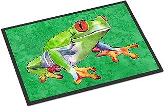 Caroline's Treasures 8688JMAT Frog Indoor or Outdoor Mat 24x36 Doormat, 24H X 36W, Multicolor